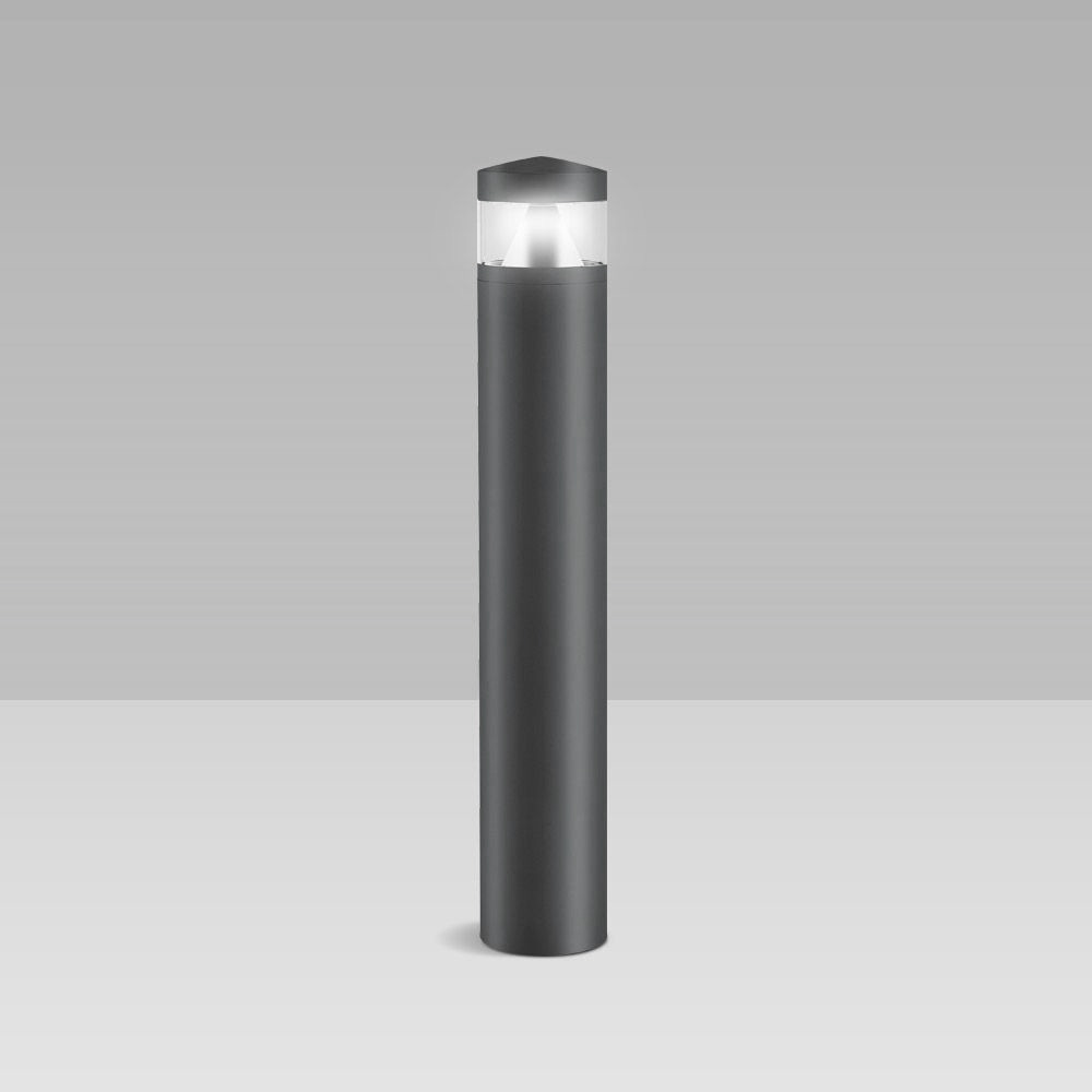 Bollard light for garden lighting with an elegant, cylindrical design, perfect for public lighting and residential environments