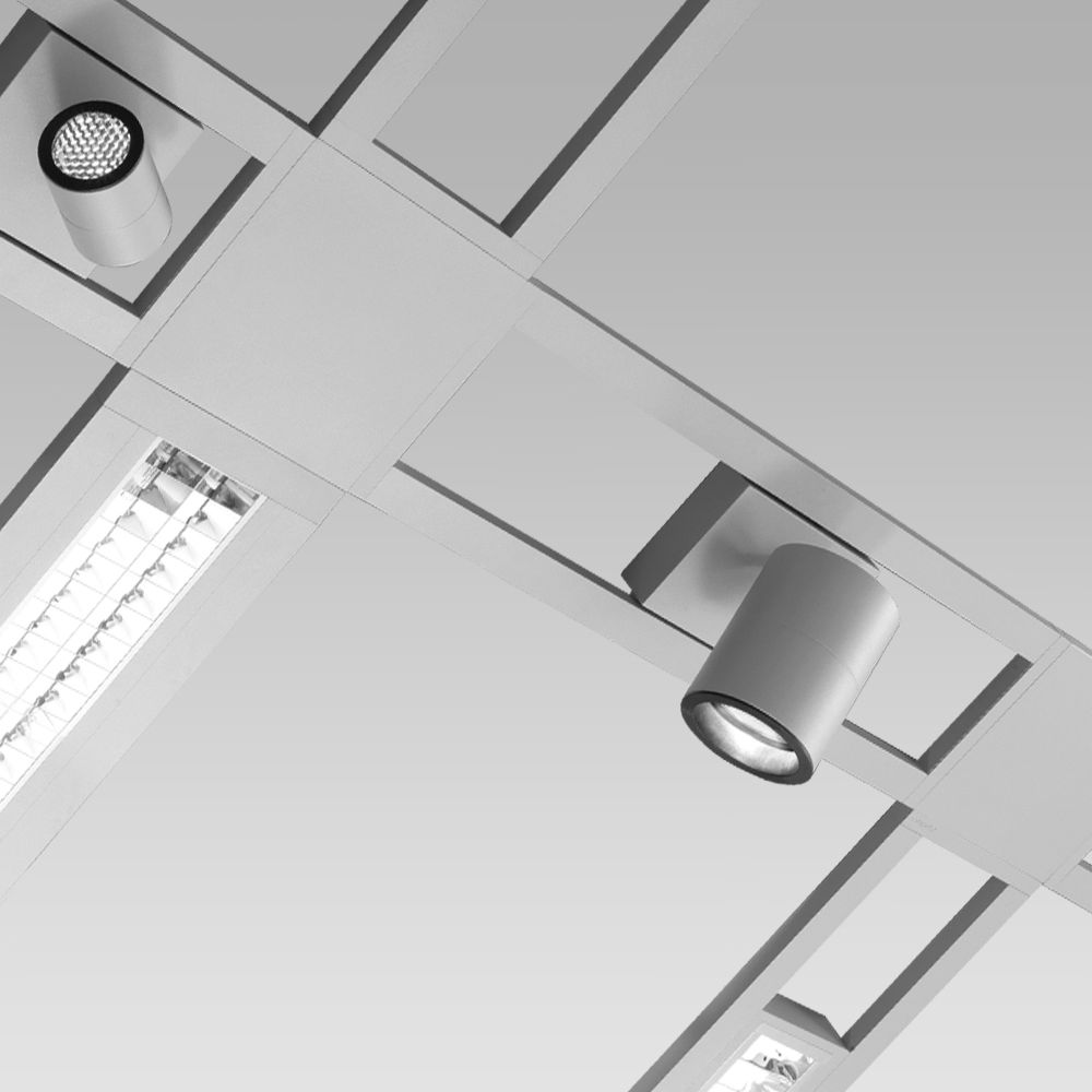 Modular lighting systems Suspended structure for modular lighting systems, with different linear and angular configurations